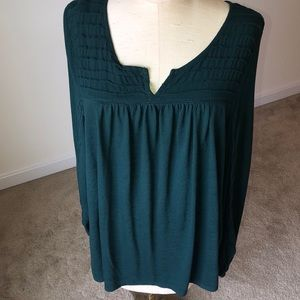 Sonoma 1X long sleeve blouse